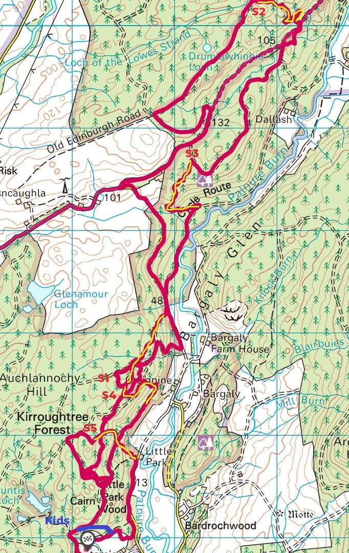 Kirroughtree Enduro Map 2019